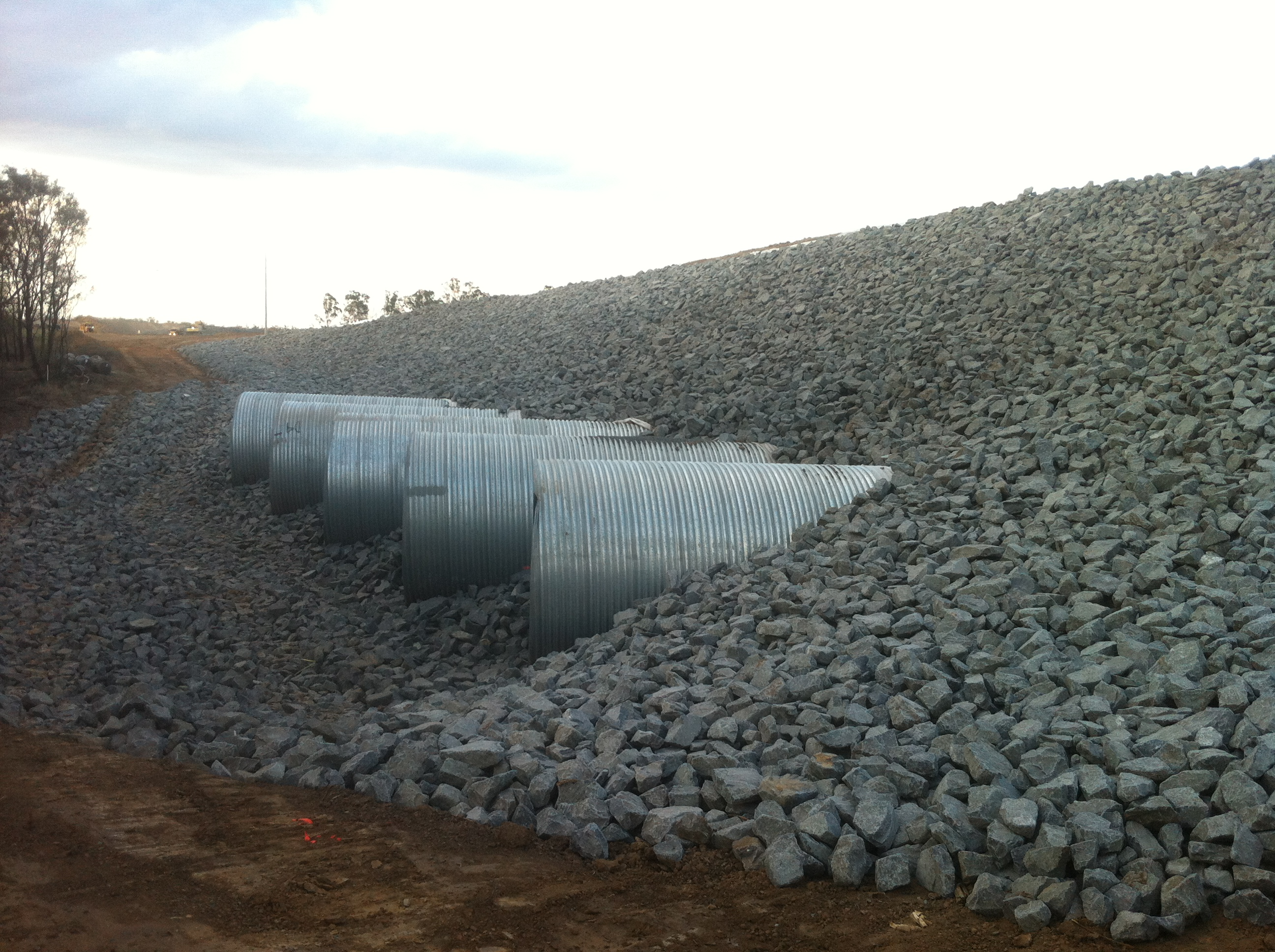 12 Mile Creek Civil Construction - Spillway & Rock Protection
