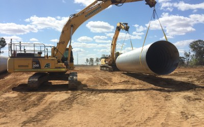 12 Mile Creek Civil Construction - CSP Road Crossing Works