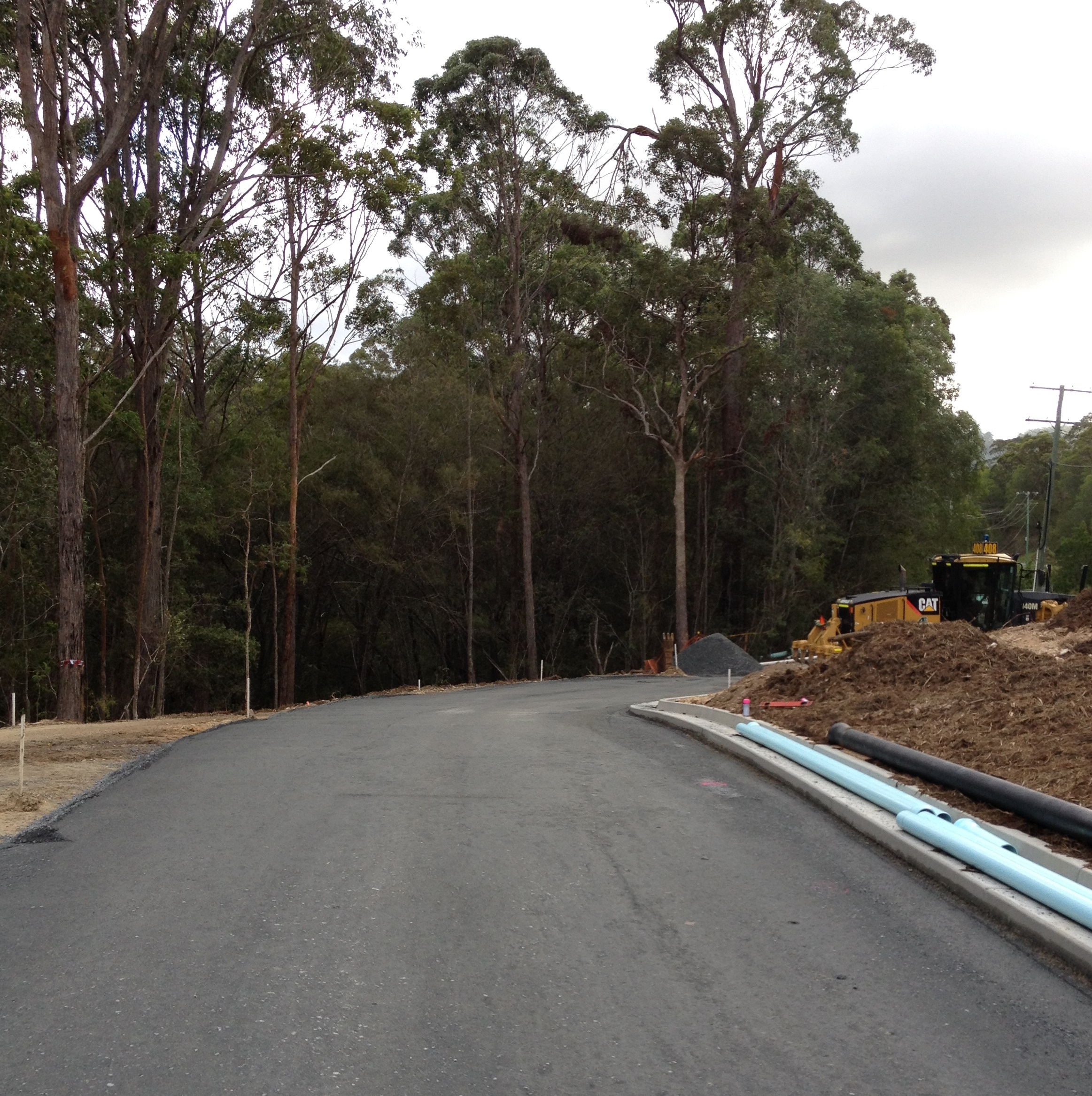 Bonogin QLD Residential Subdivision - Kerb & Gutter Construction