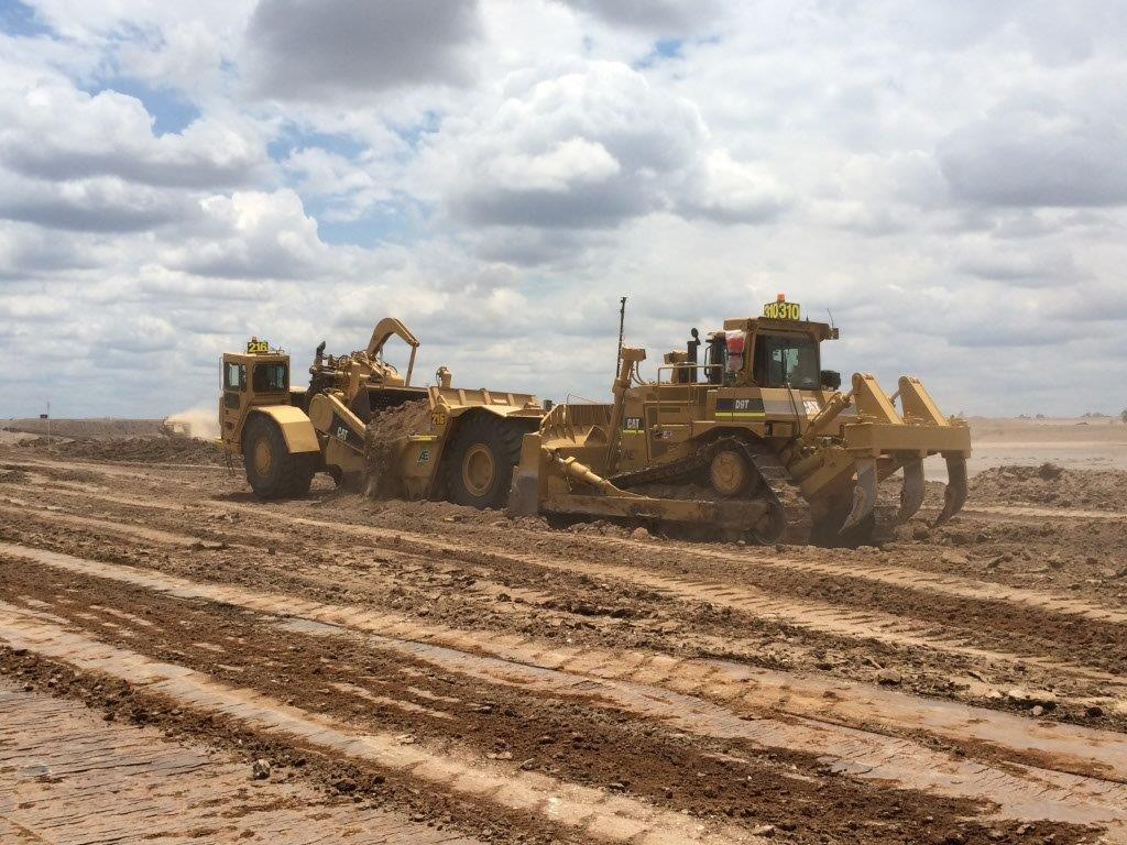 Reject Dam Cell Expansion - Scraper & Dozer Earthworks Site Preparation