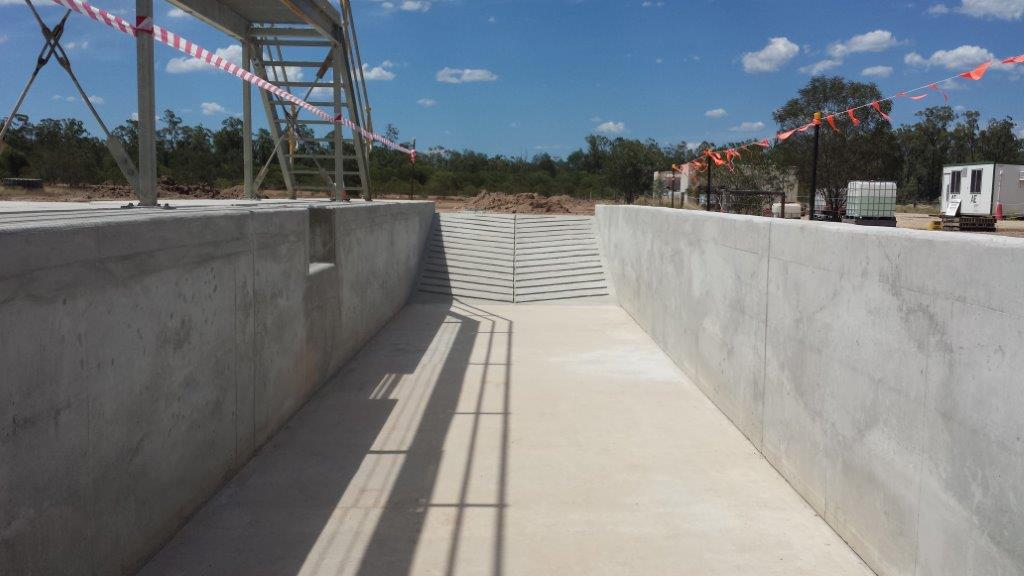 Inside Concrete Formed Sump Pit