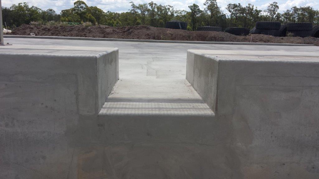 Concrete Formed Wash bay Outlet