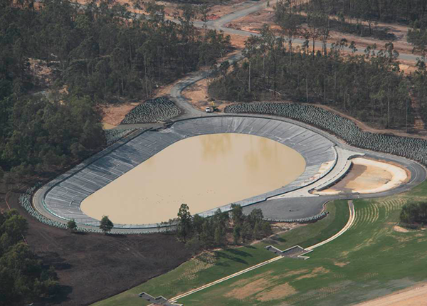 Baulderstone Queensland - HDPE Lined waste water and evaporation pond