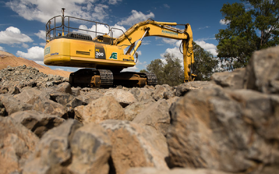 Middlemount Coal Mine - Rip Rap Rock protection to Roper Creek Outlet