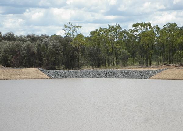 Oaky Creek Coal - Rock Lined Spillways