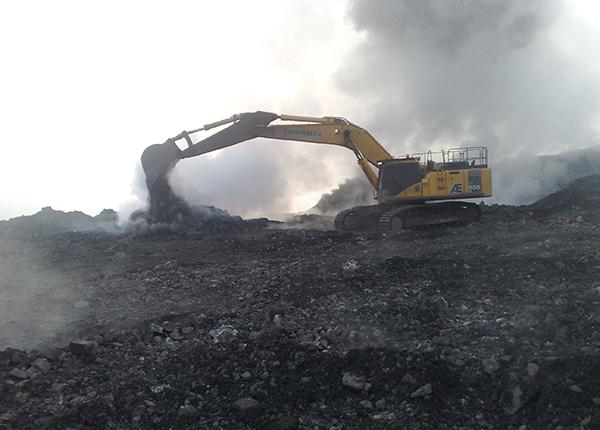 Swanbank Waste Management - Excavator ROM Management