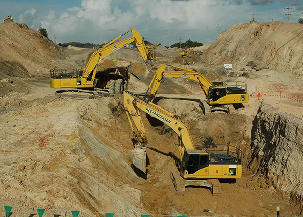 Road Works - Win, Load, Haul, Compact, Trim & Backfill materials to form foundations